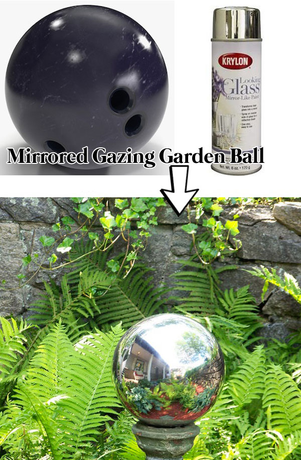 Spray Painting Ideas Part - 28: #2. Make A Mirrored Gazing Garden Ball For Garden.