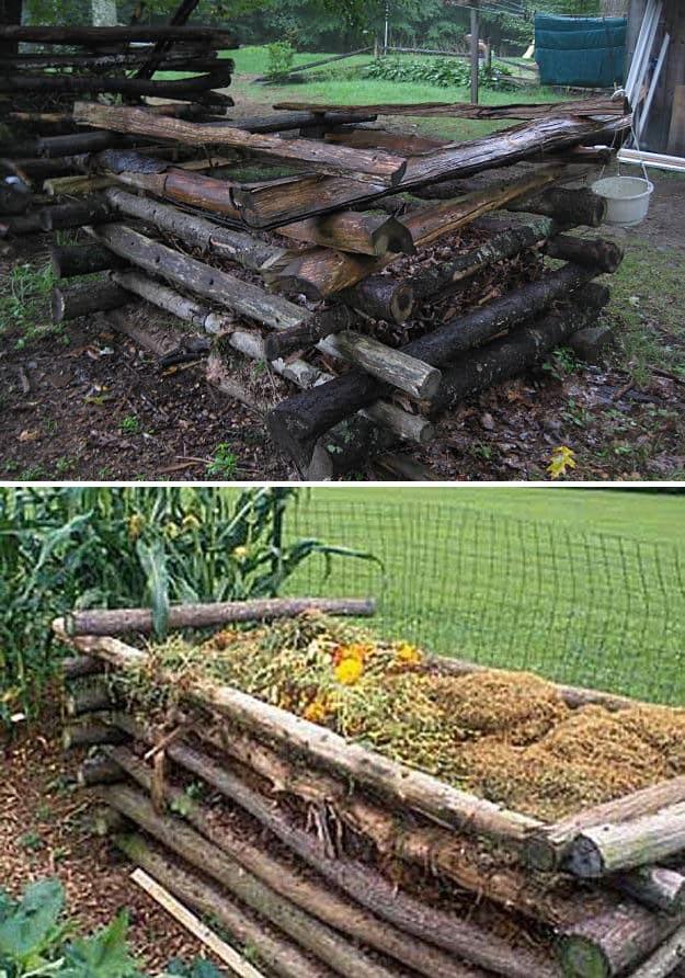 Log Compost Bin