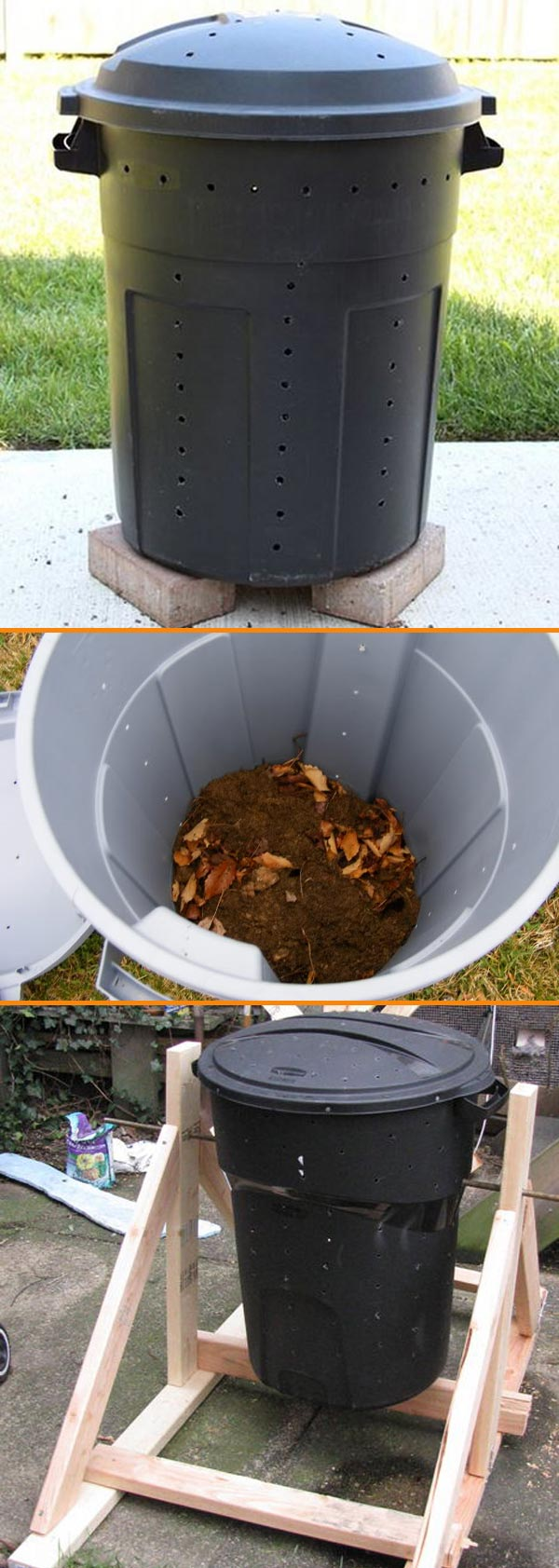 DIY Compost Bin from a Garbage Can