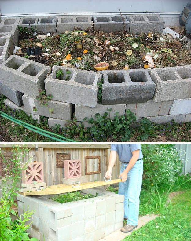 Concrete Blocks Compost Bin