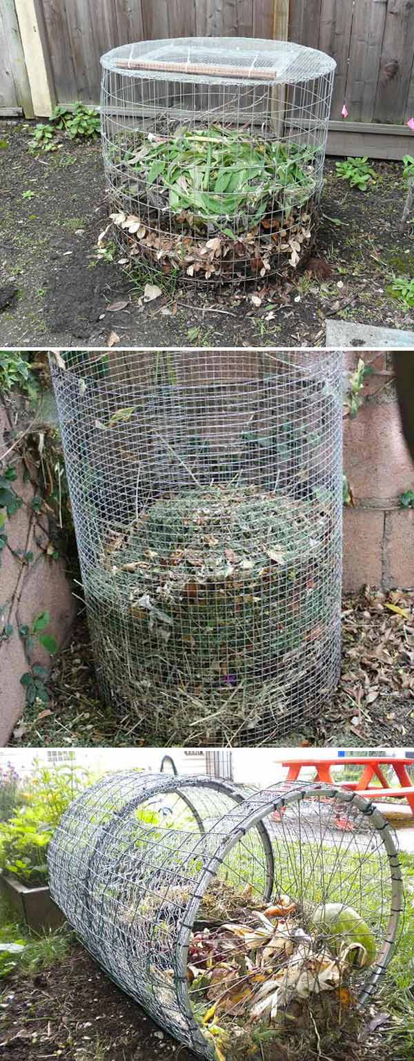 DIY Compost Bin From Hardware Cloth
