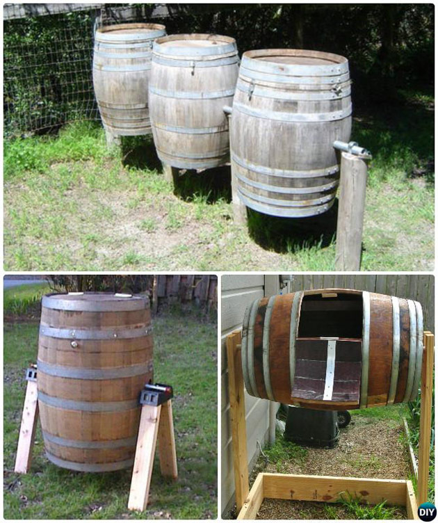 Wine Barrel Compost Station