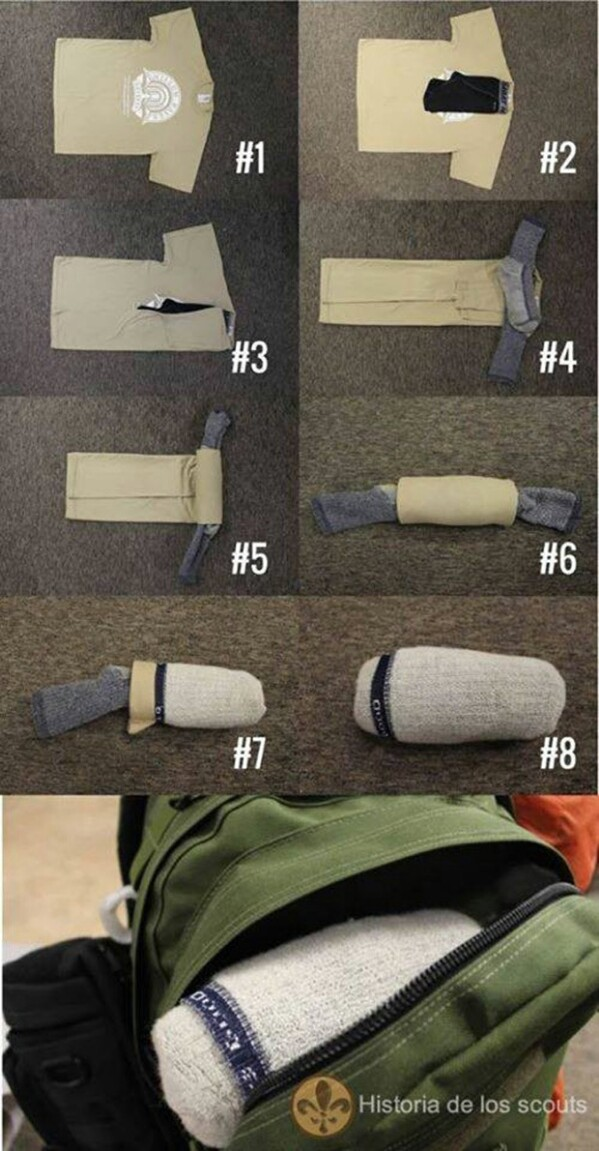Clever Way to Fold Your Cloth for Travel