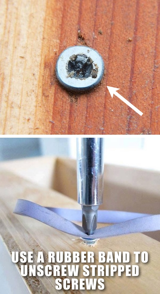 Use a Rubber Band to Unscrew Stripped Screws