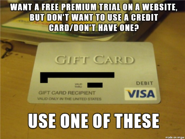 Use a Gift Card to Replace a Credit Card