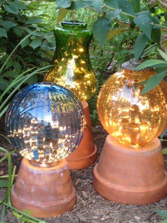 Use Clay Pots as a Base for Garden Lights