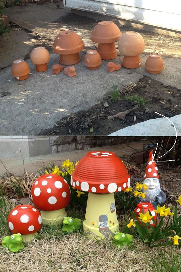 Clay Pot Mushroom Toadstool
