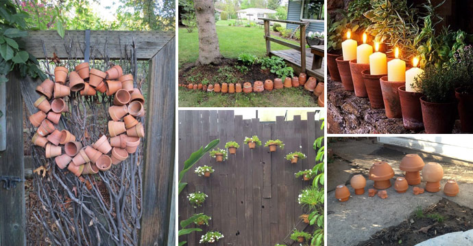 21 Clever Ideas to Adorn Garden and Yard with Terracotta Pots
