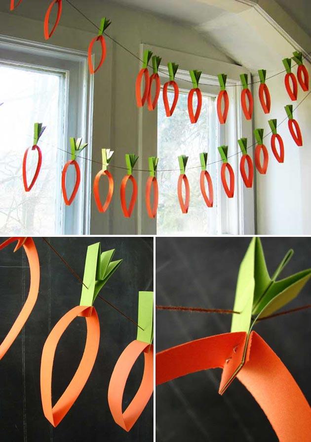 Paper Carrots Garland