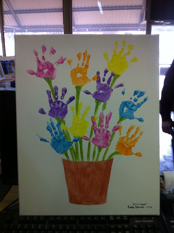 Handprint Flower for Spring