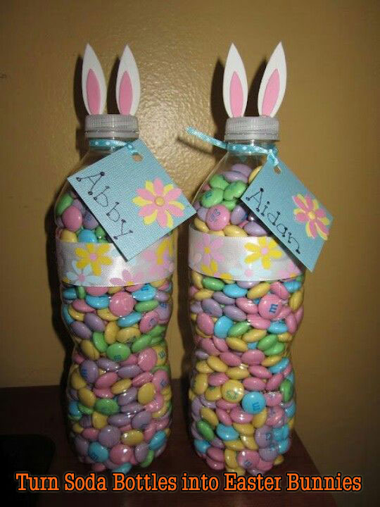 Turn Soda Bottles into Easter Bunnies