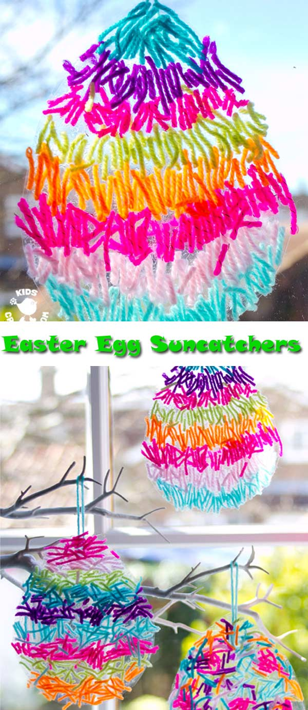 Yarn Easter Egg Suncatchers