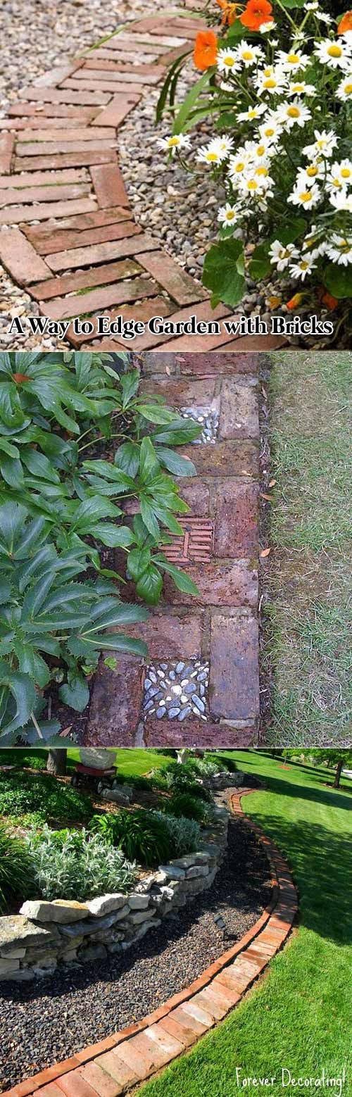 Edge Your Garden with Bricks