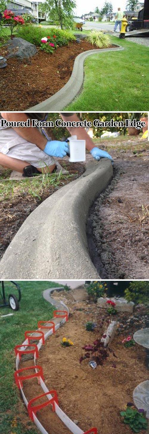 Poured Form Concrete Garden Edge