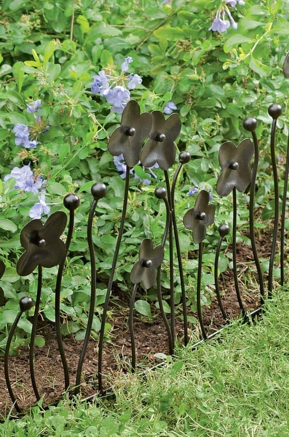 Charming Metal Garden Border