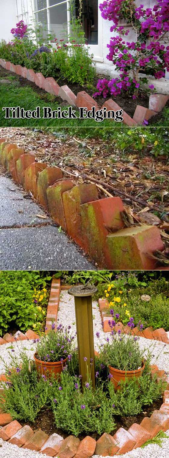 Tilted Brick Edging