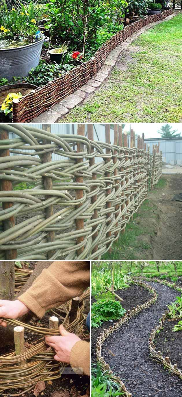 Braided and Woven Vines Garden Border