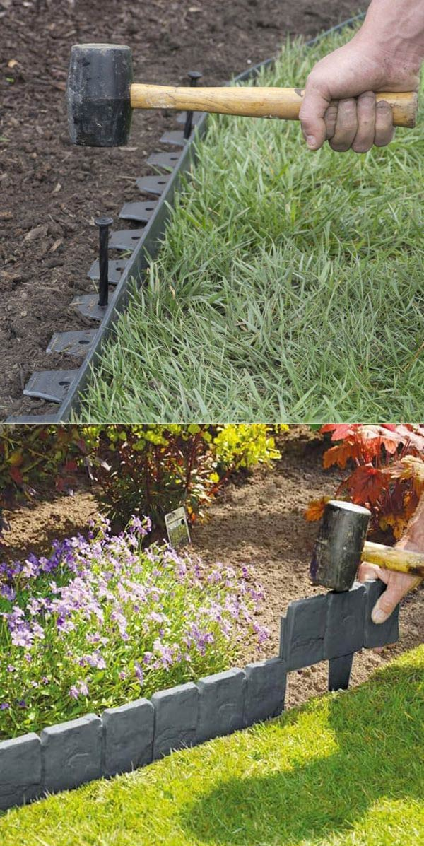 Create awesome garden edging to improve your curb appeal for Edging ideas for front of house