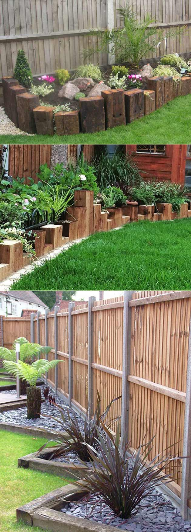 Railway Sleepers Garden Edging