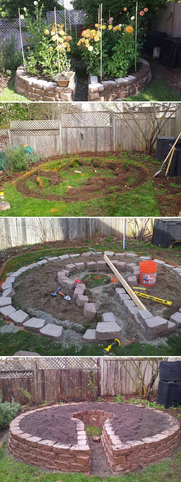 round-raised-garden-beds-7 Painted Rock Garden Design Ideas on painted rocks with fish, cute pet rocks idea, painted flowers idea, painted rocks craft, outside front yard halloween decoration idea, painted kitchen idea, painted rocks with quotes, painted wall idea,