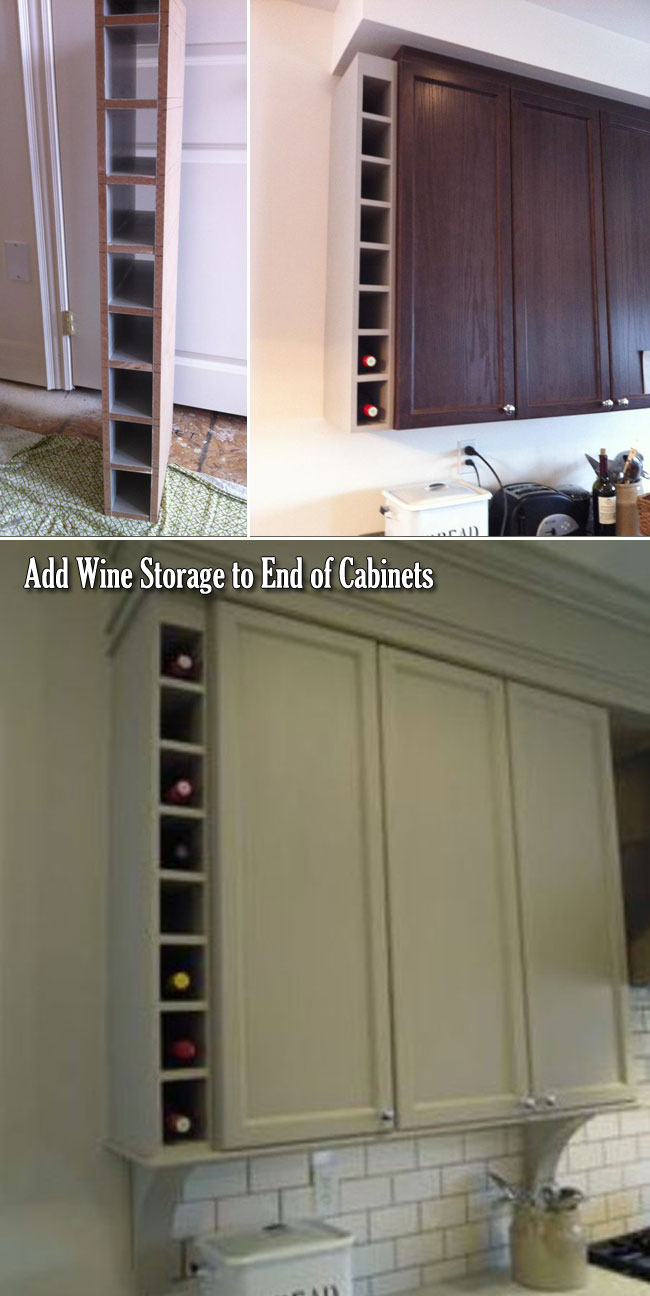20 Genius Ideas for Using Wasted Space on Kitchen Ends Of ...