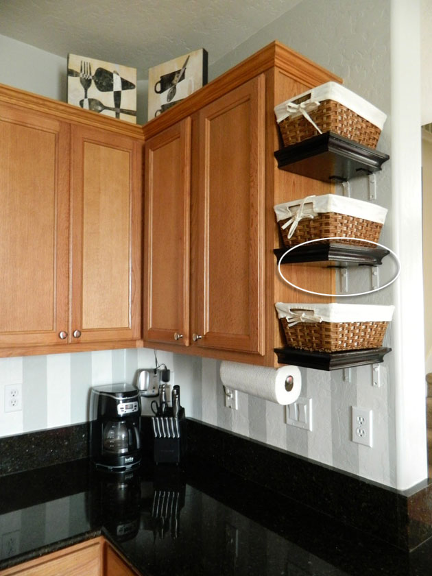 Wasted E On Kitchen Ends Of Cabinet