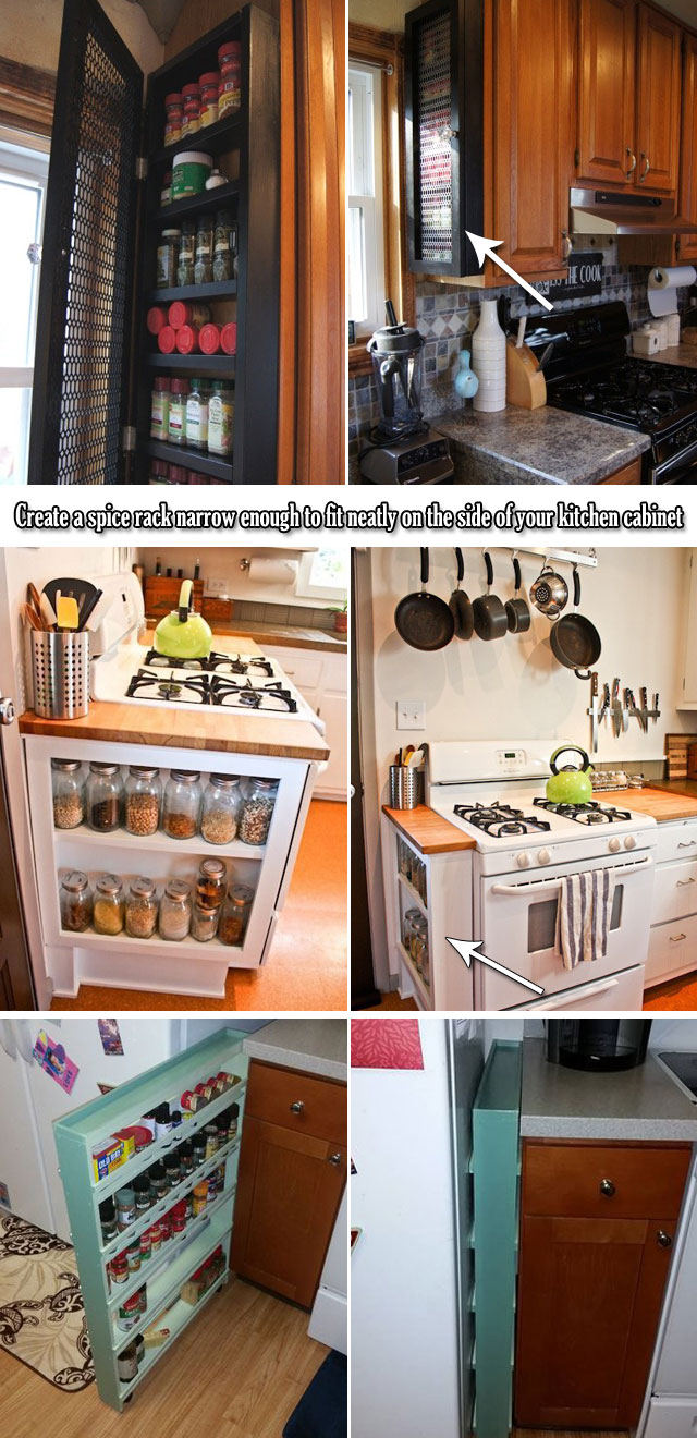 9 Genius Ideas for Using Wasted Space on Kitchen Ends Of Cabinet ...
