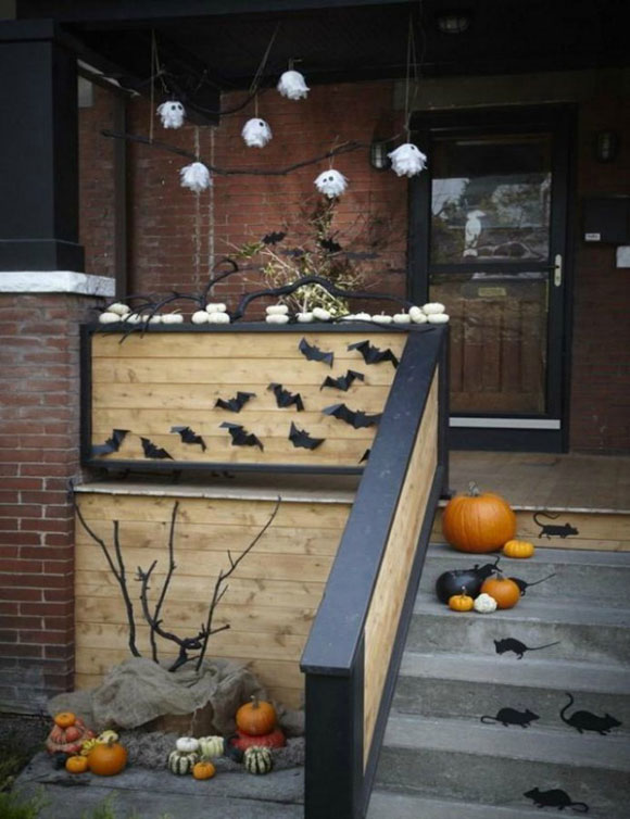 Add Spooky Touch To Porch This Halloween Homedesigninspired