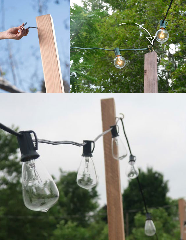 How to Create Patio String Lighting with DIY Pole
