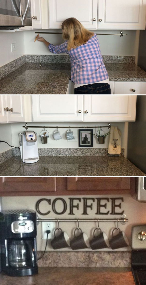 15 Cool Uses Of Space Between Countertop And Wall Cabinet