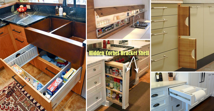 28 Hidden Storage Spots Your Kitchen Might Have