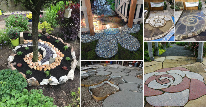 20 Ways Decorating Patio and Garden Floor with Patterns