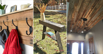 Homemade Entryway Projects With Reclaimed Wood