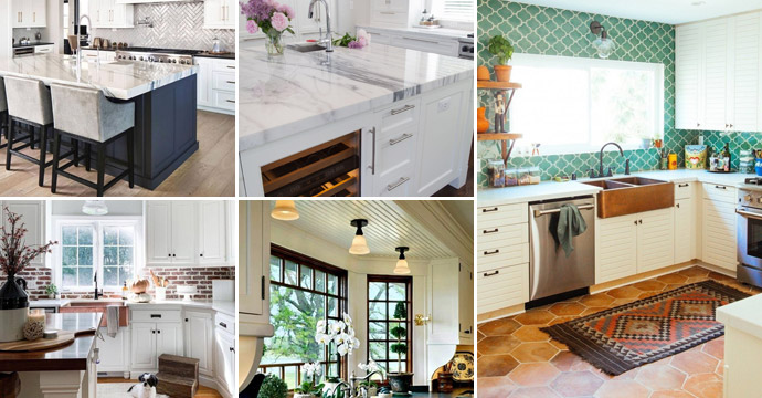 8 Trendy Ideas to Enhance White Kitchen Cabinets
