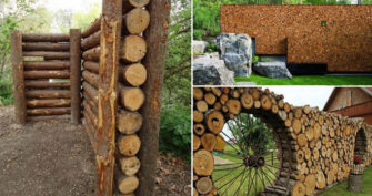 Build a Cordwood Fence for Yard Privacy