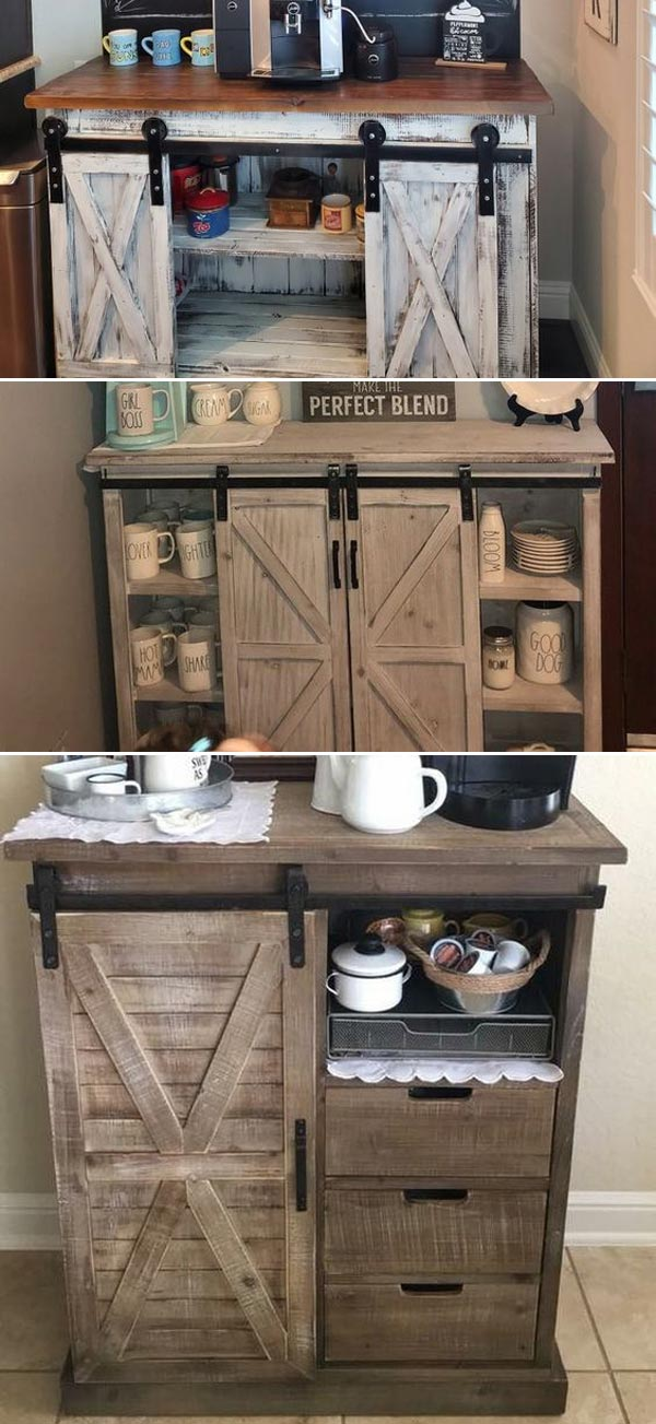 15 Diy Farmhouse Style Coffee Bar Ideas Using Recycled Things