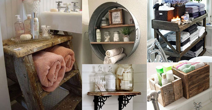 21 Storage Pieces To Add Farmhouse Style to Bathroom