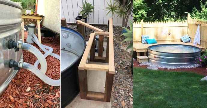 Stock Tank Pools Let You Stay Cool 20 Diy Stock Tank Pool Ideas