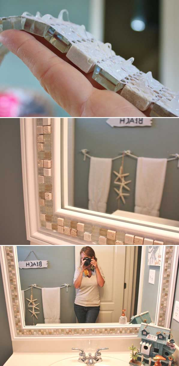 Decorate a Mirror with Tile