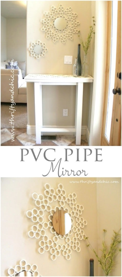 PVC Pipe Decorative Mirror