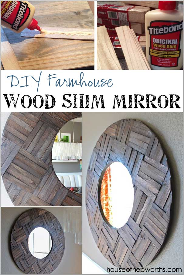Mirror Frame Made from Wood Shims