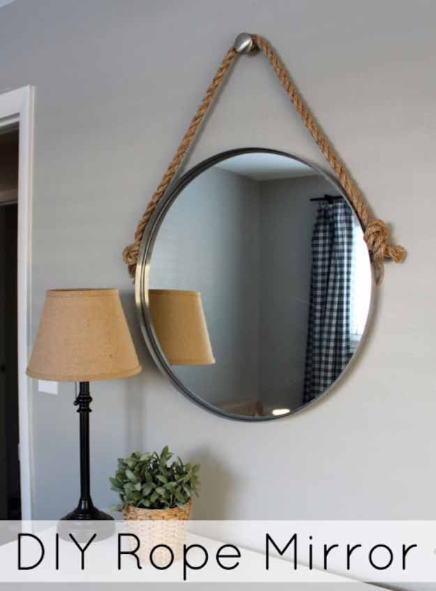 DIY Pretty Rope Mirror