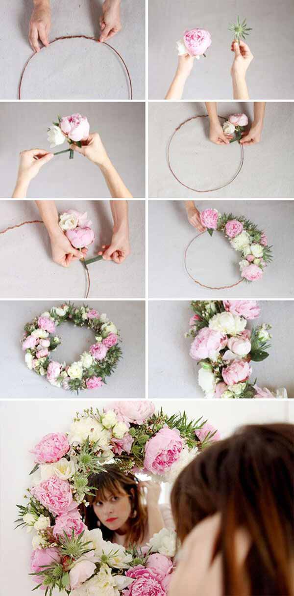 Floral Wreath Mirror