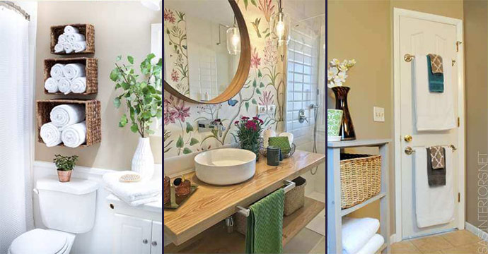 10 Small Bathroom Towel Storage Ideas